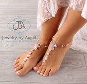 wedding barefoot sandals, rose gold barefoot sandals, bridal foot jewelry, beach wedding barefoot sandals
