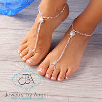 Rhinestone Barefoot Sandals Beach Wedding Barefoot Sandals Bridal Foot Jewelry