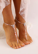 Starfish Barefoot Sandal Bead Wedding Foot Jewelry Starfish Footless Sandals