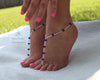 Something Blue Foot Jewelry Sapphire Crystal Barefoot Sandals