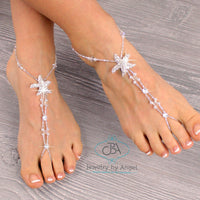 Starfish Wedding Barefoot Sandals Wedding Foot Jewelry Beaded Barefoot Sandals