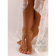 Wedding Barefoot Sandal, Gold Bridal Sandals, Beach Wedding Foot Jewelry