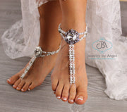 Beach Wedding Barefoot Sandal Beaded Foot Jewelry BFS4