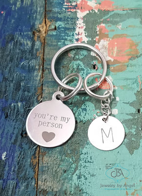 You're My Person Key Chain, Best Friend Key Chain, Couples Gift, You're My Person Key Ring