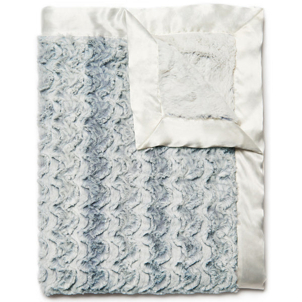 Lux Baby Blanket – Blue Steel