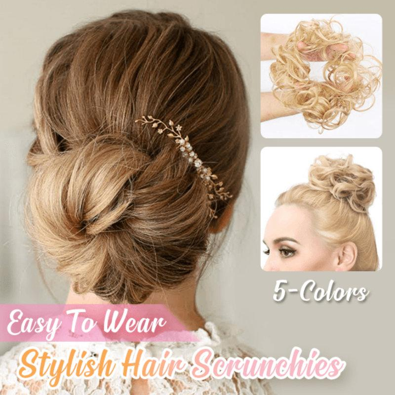 Messy Rose Hair Bun Scrunchie