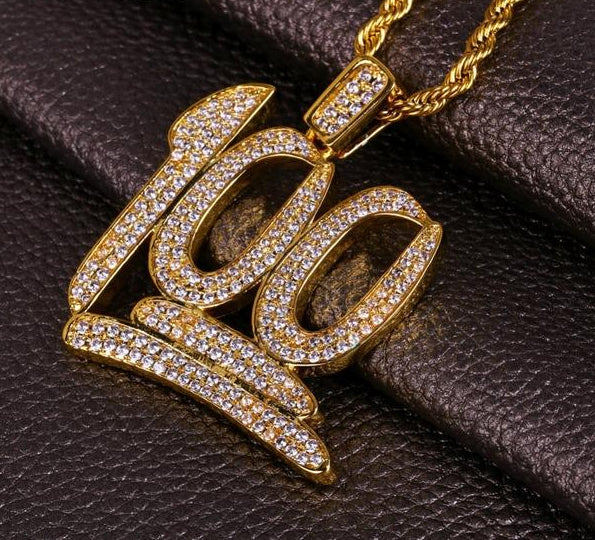 "18k GP Iced Out 4.5mm ""100"" Necklaces JSN - Simply IcedOut"
