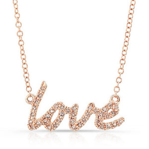 18k GP V.1 Cursive Name Necklace  S&D - Simply IcedOut