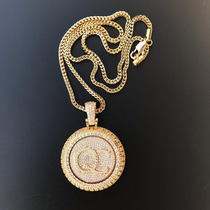 18k GP Customized Spinning Pendant - Simply IcedOut