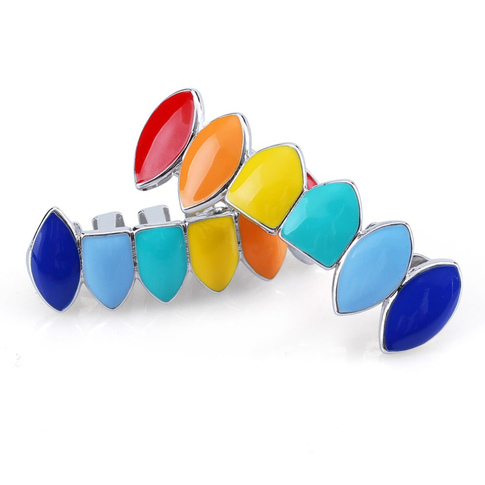 18k GP Multi-Colored Grillz Hypoallergenic JSN ( TRENDY) - Simply IcedOut