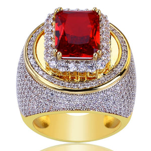 18k GP Iced Out Micro Paved Ruby Esperanza Ring JSN - Simply IcedOut