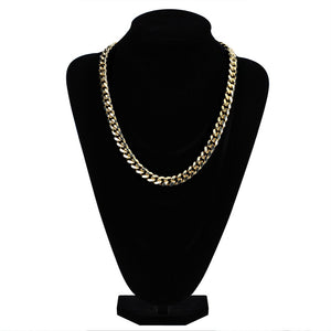 18k GP 10mm Premium Miami Cuban Chain Necklaces JSN - Simply IcedOut