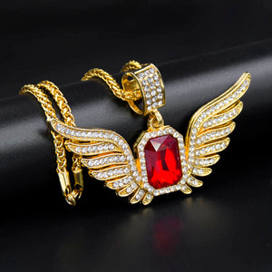 18k GP Burning Ruby Phoenix Pendant JSN (HOT) - Simply IcedOut