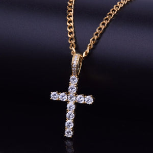 FREE 18k GP Micro Pave Harvey Cross Pendant JSN - Simply IcedOut