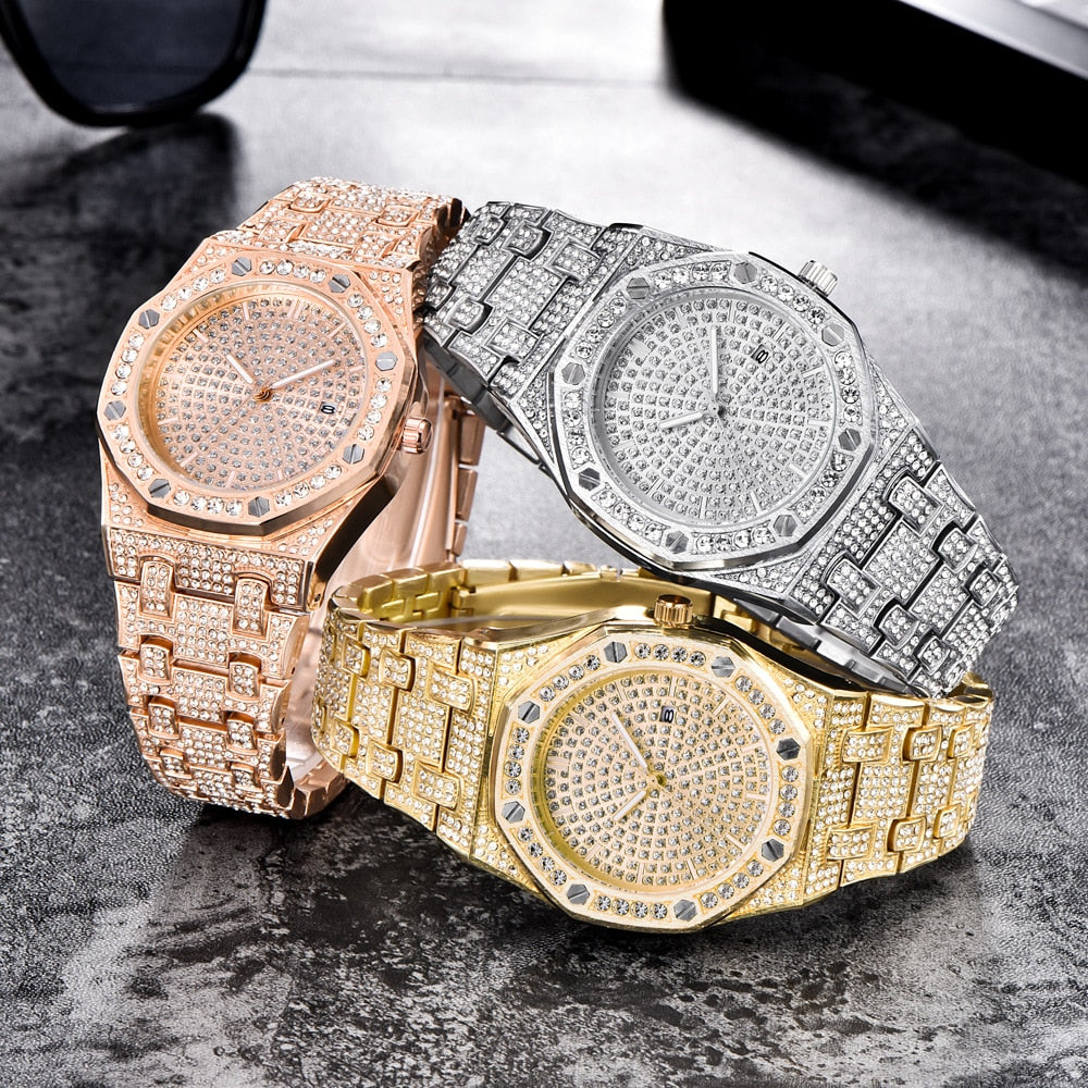 18k GP Iced Out CZ Stone 3rd Edition Watch JSN - Simply IcedOut