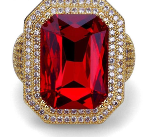 18k GP Burning Ruby Esperanza Ring JSN - Simply IcedOut