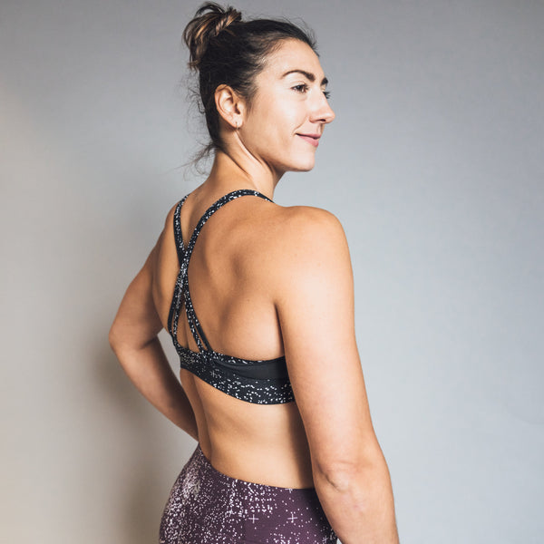 Hero Strappy Padded Bra- Data Dots