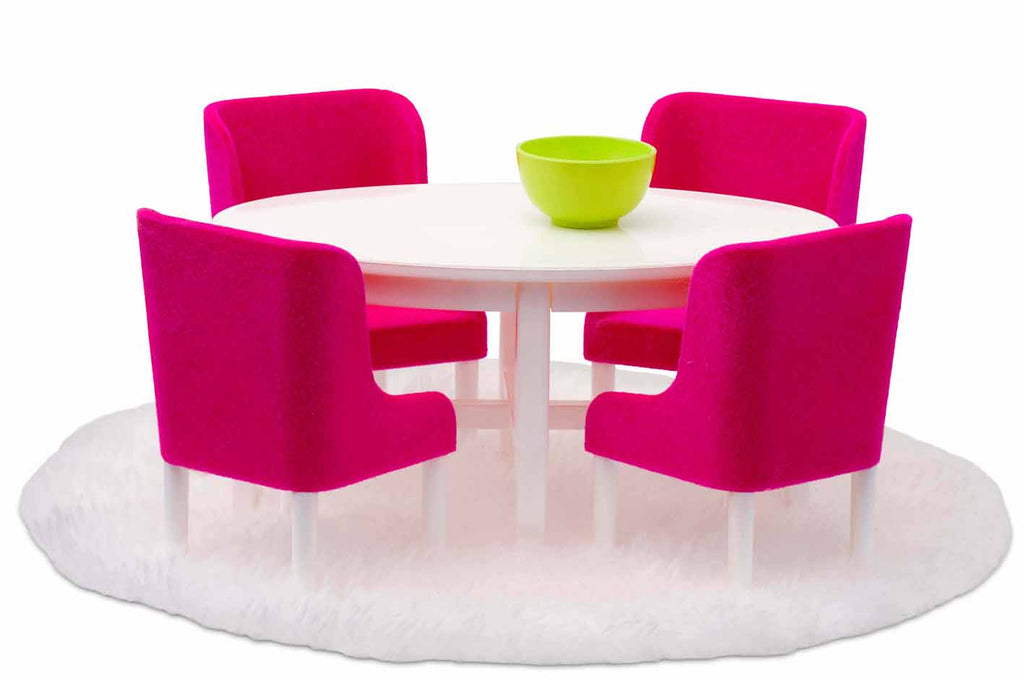 Småland Dining Room Set, Hot Pink