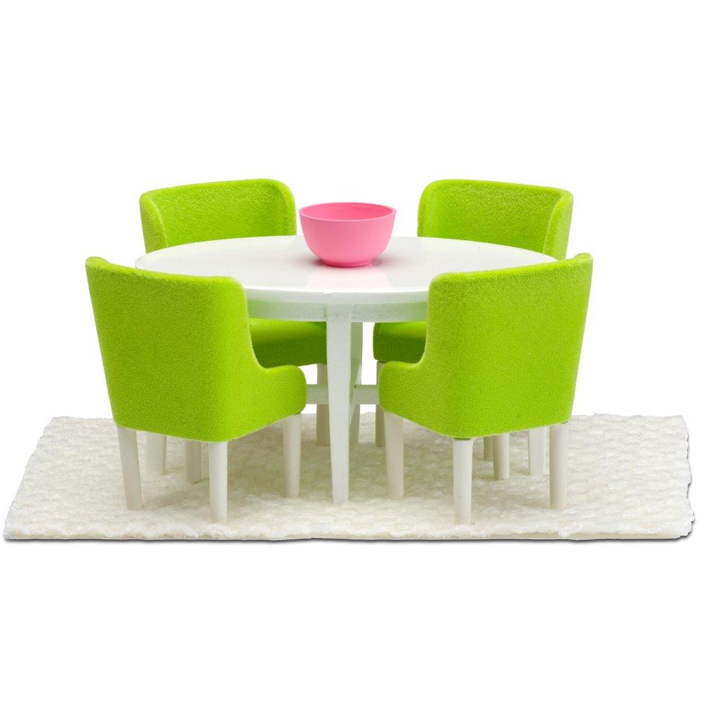 Lundby Dining Room Set, Green