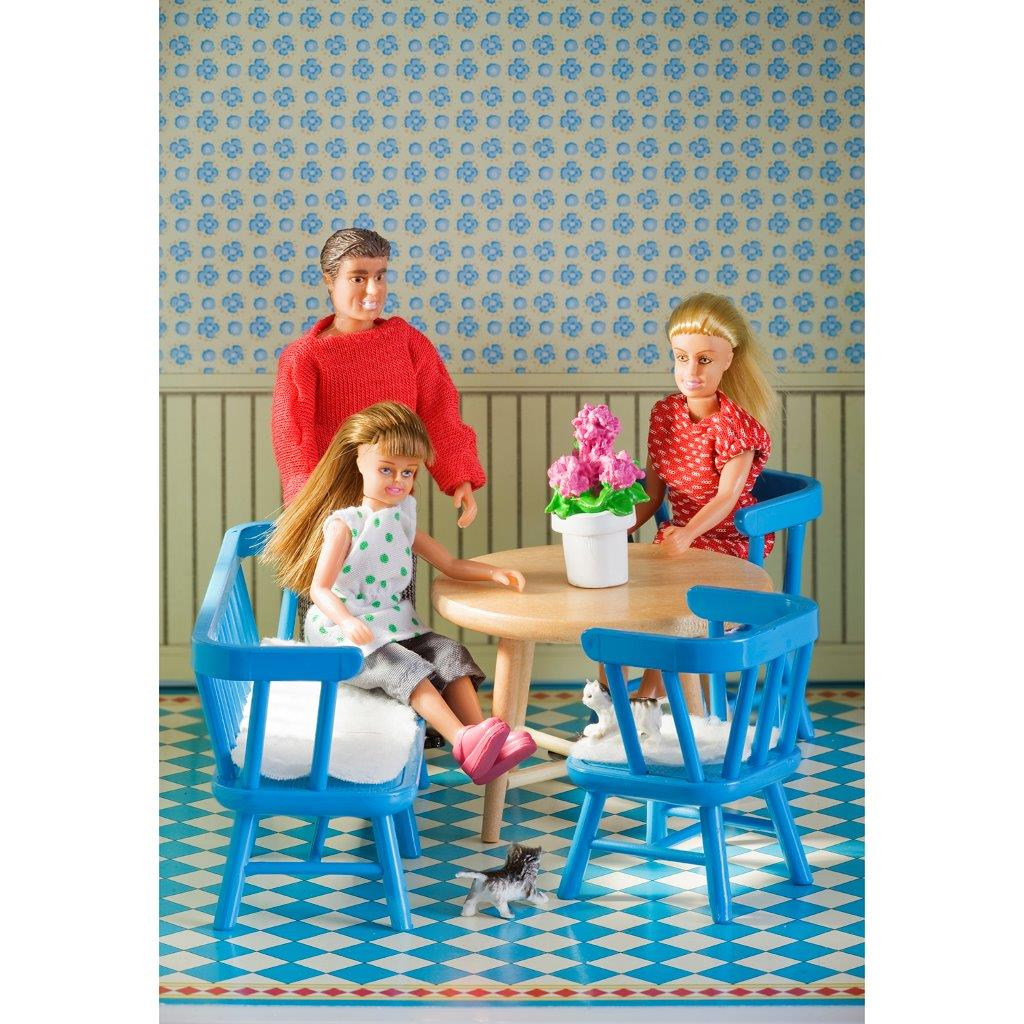 Lundby Kitchen Furniture Set, Blue