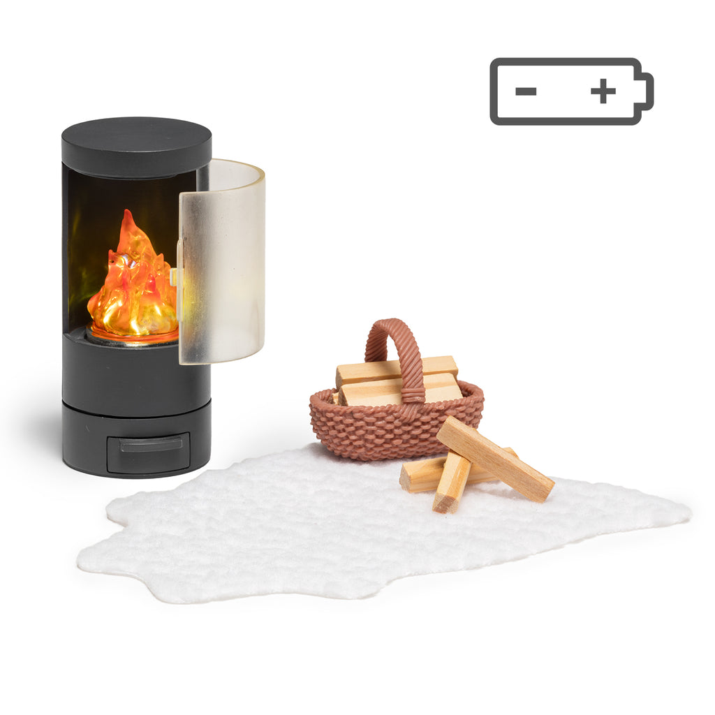 Lundby Fireplace Set - Battery Operated
