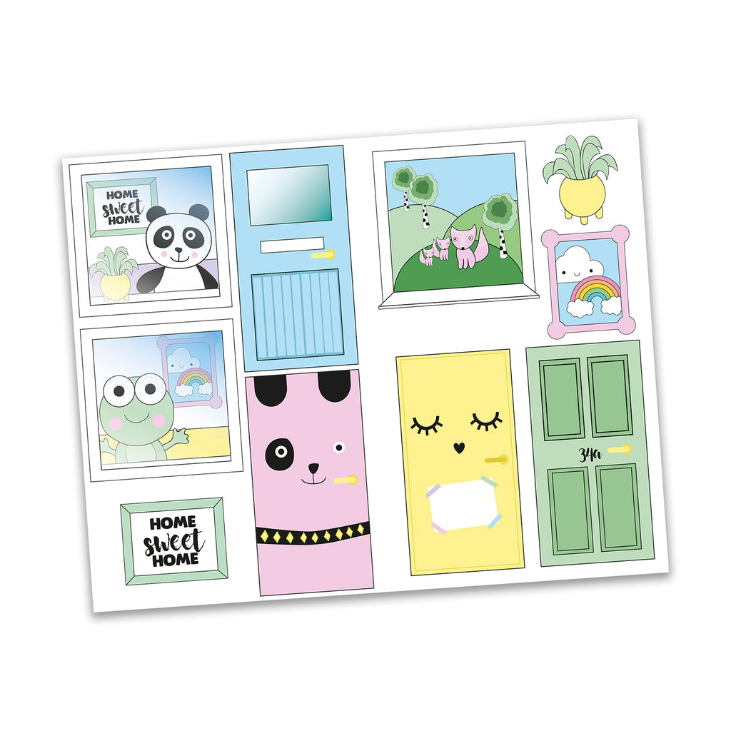 Creative Sticker Sheet - Windows and Doors