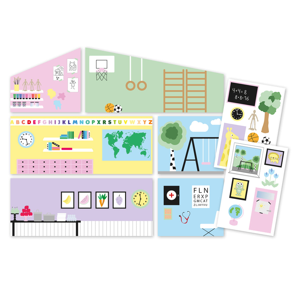 Creative Wall Set - School
