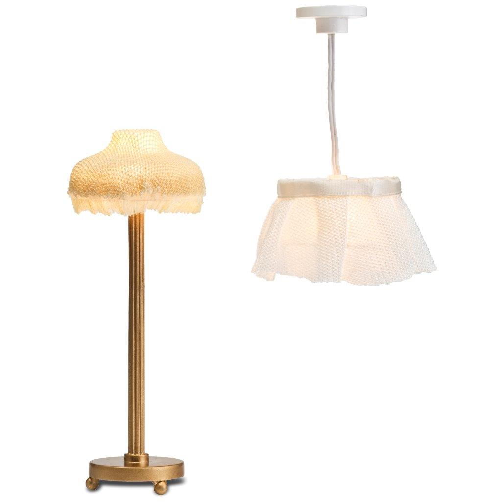 Lundby Lamp Set 2: Floor & Ceiling Lamps