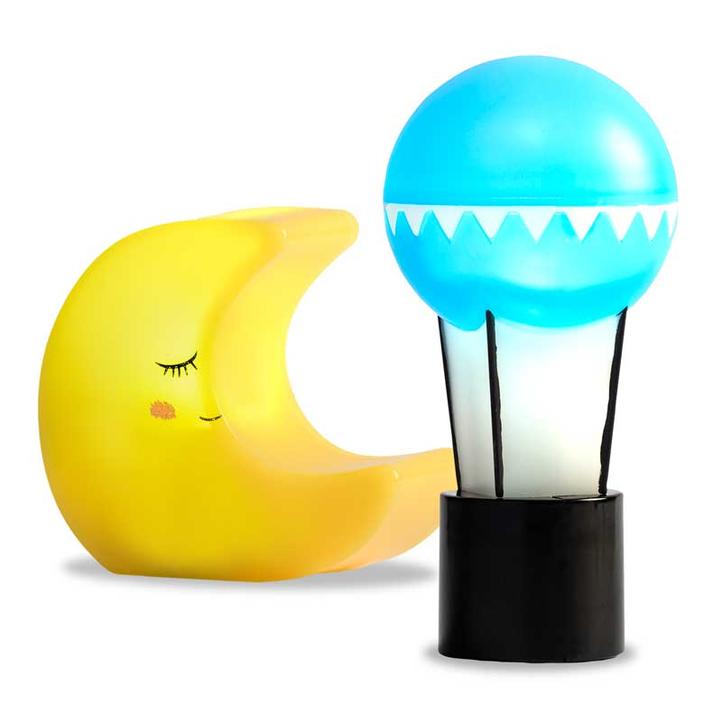 Moon and Sun Battery Operated Lamp Set - Battery Operated