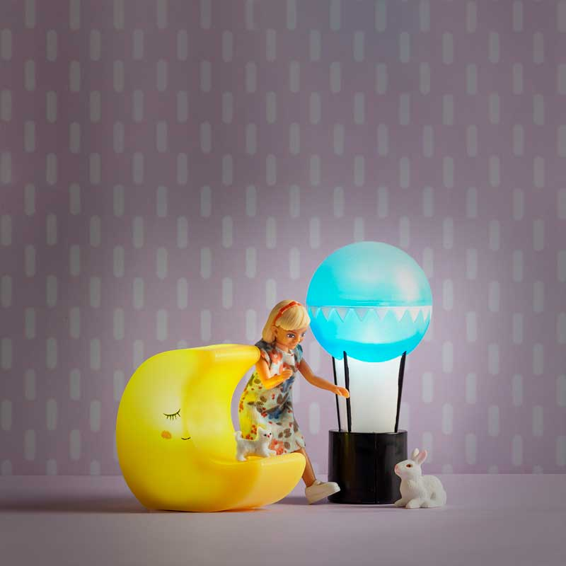 Moon and Sun Battery Operated Lamp Set