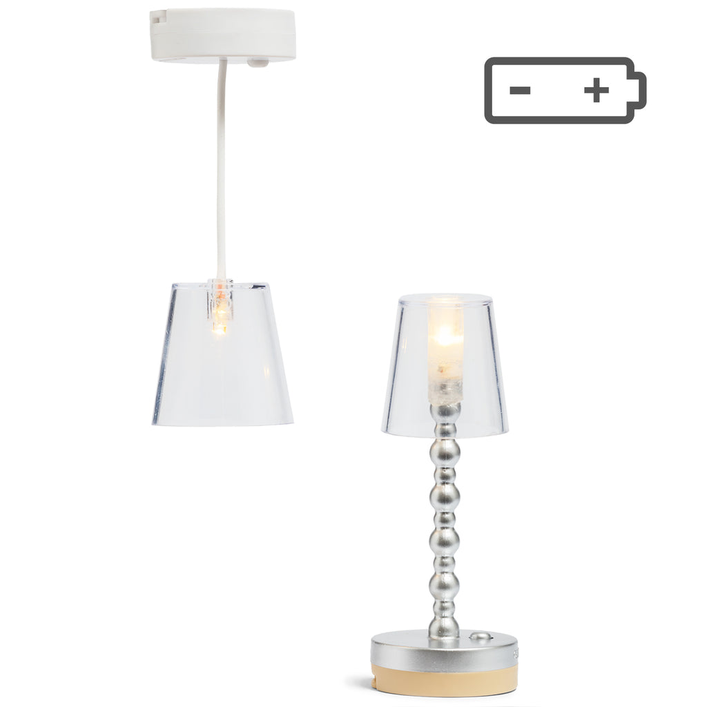 Lundby Floor and Ceiling Lamps - Battery Operated