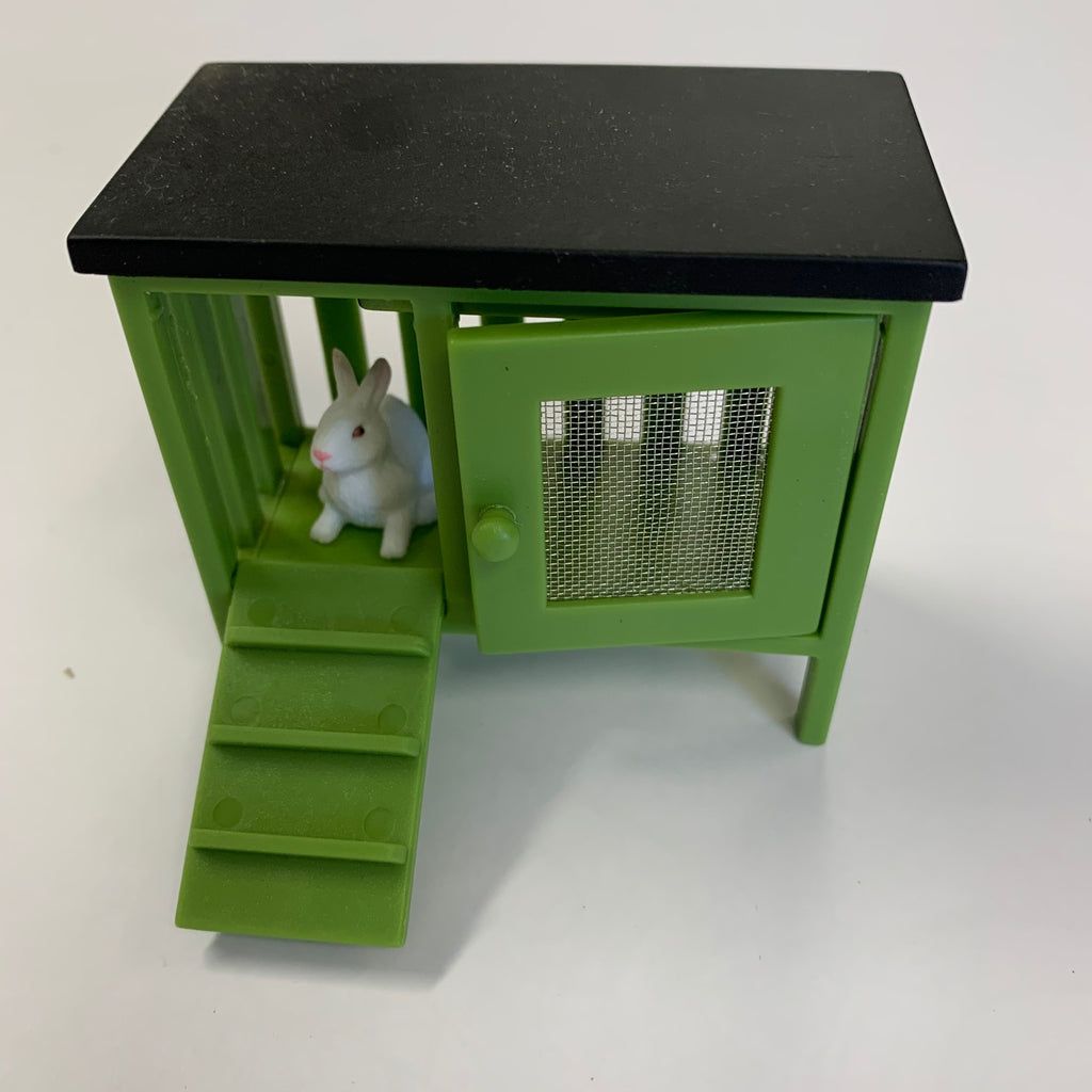 Lundby - Green Rabbit Hutch with Rabbit