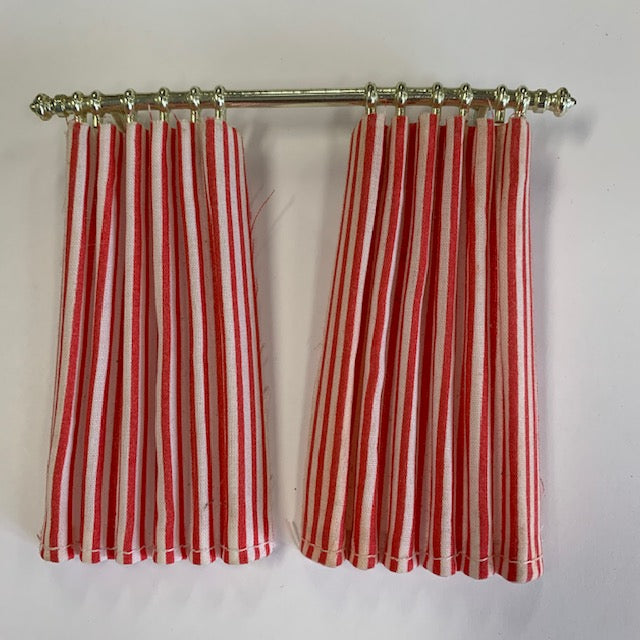 Lundby - Curtains - Candy Stripe