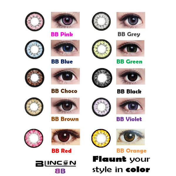 Blincon BB Monthly 2 Lenses Colour Chart