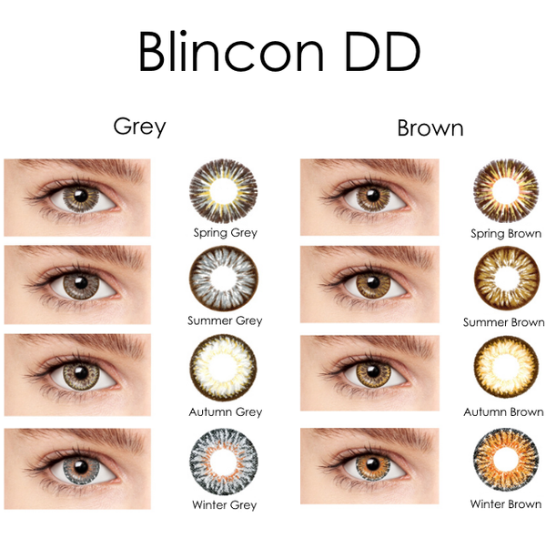 Blincon DD 3 Months 2 Lenses Colour Chart