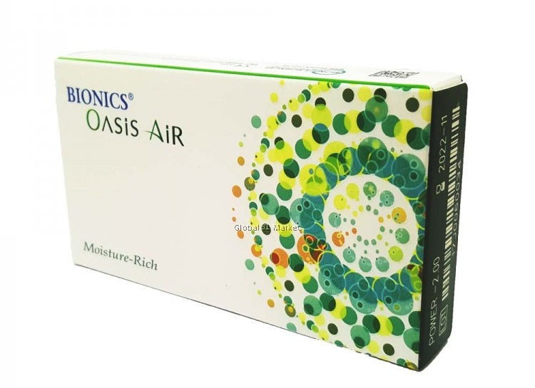 Bionics Oasis Air Monthly 6 Lenses Large