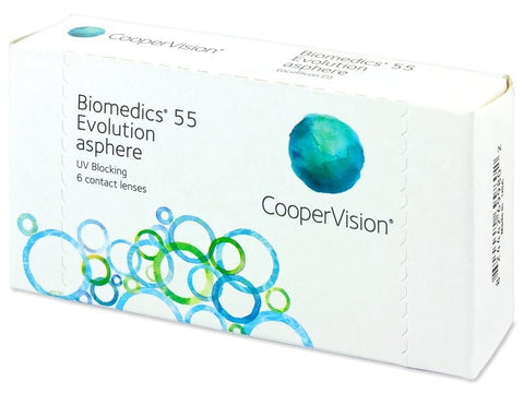 Biomedics 55 Evolution Monthly 6 Lenses