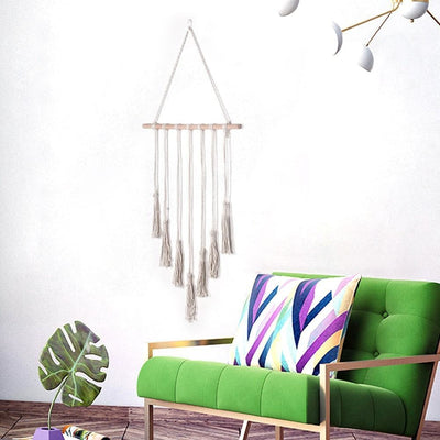 Macramé Mural Simple Blanc