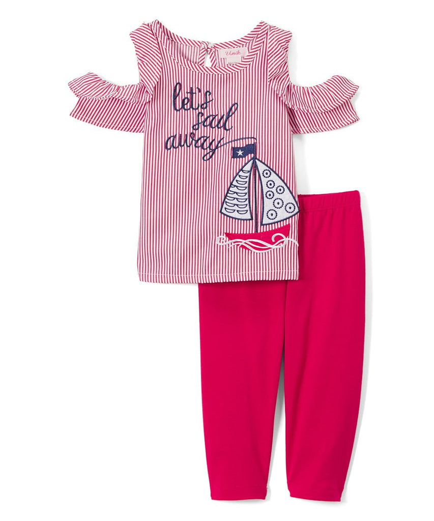 unikinc - Sail Boat Girl Legging Set - Unikinc