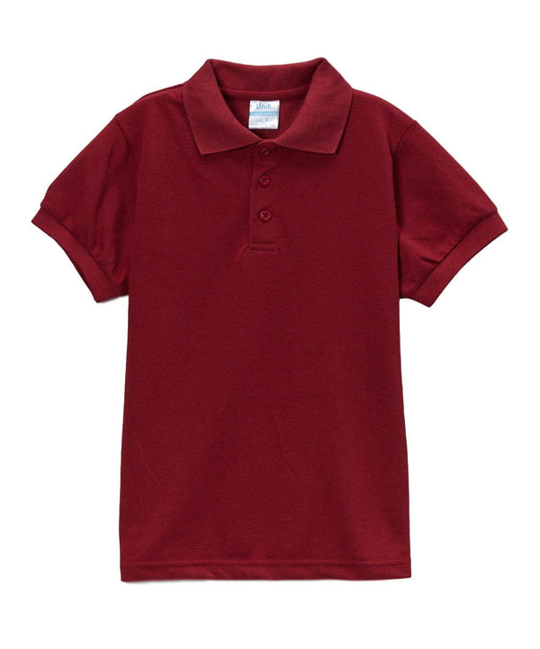Boys Uniform Polo Shirt Burgundy