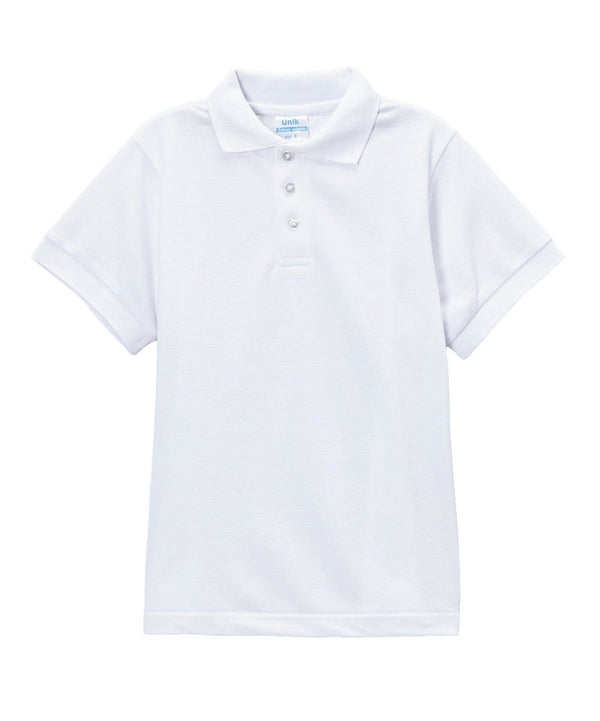 unikinc - Boys Uniform Polo Shirt White - Unikinc