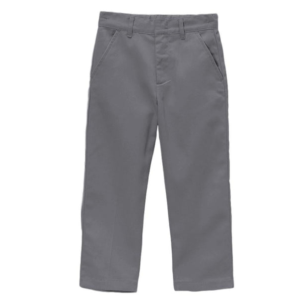 Boy's Uniform Twill Pants Flat Front Pants