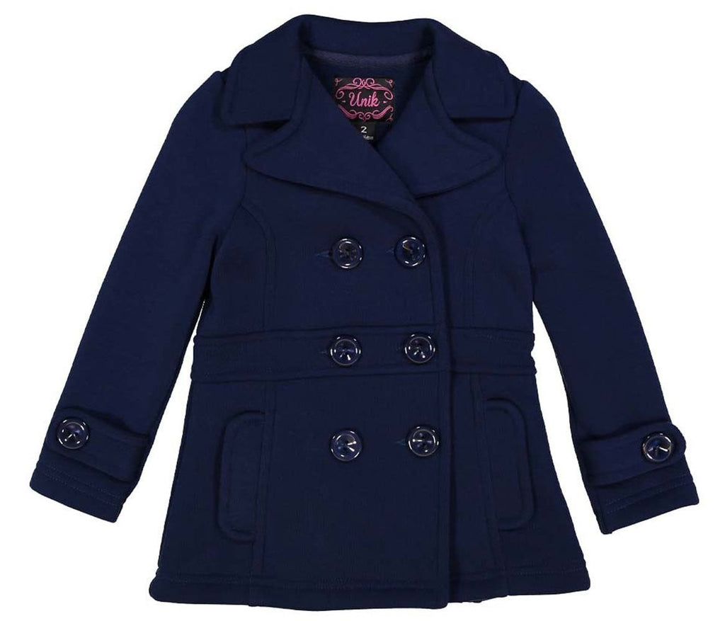 unikinc - Girl Fleece Coat With Buttons - Unikinc