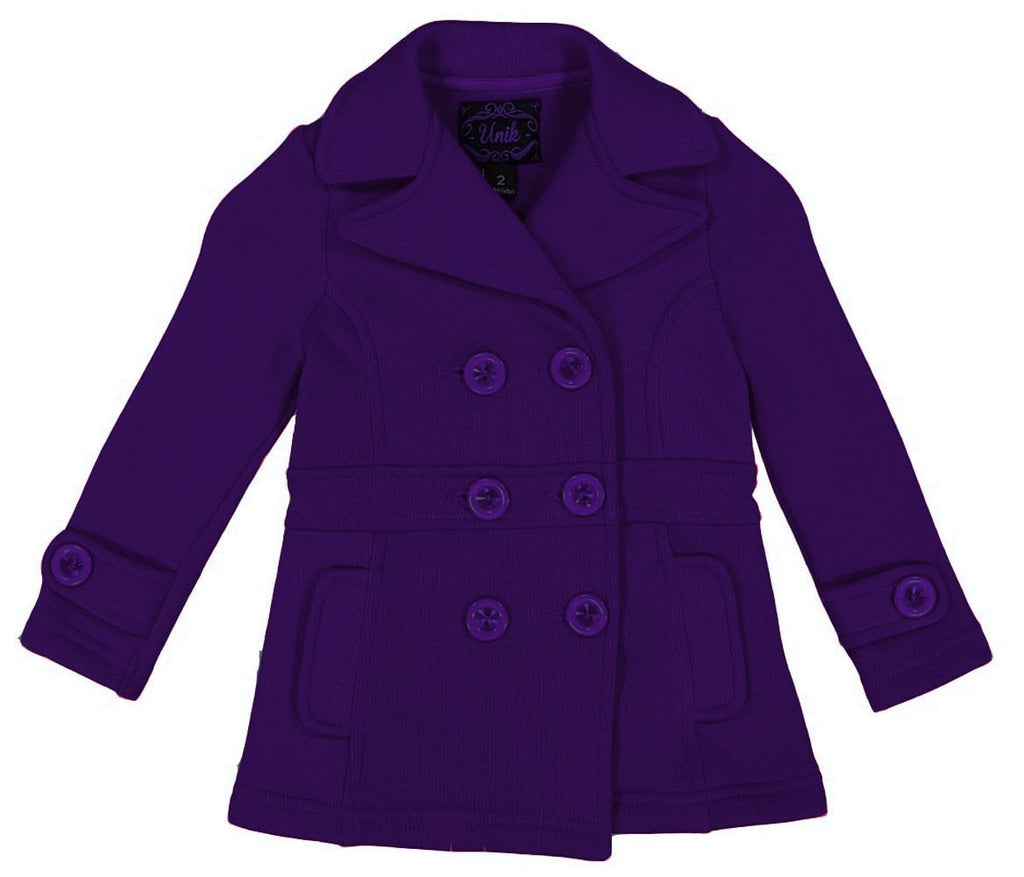 Girl Fleece Coat With Buttons