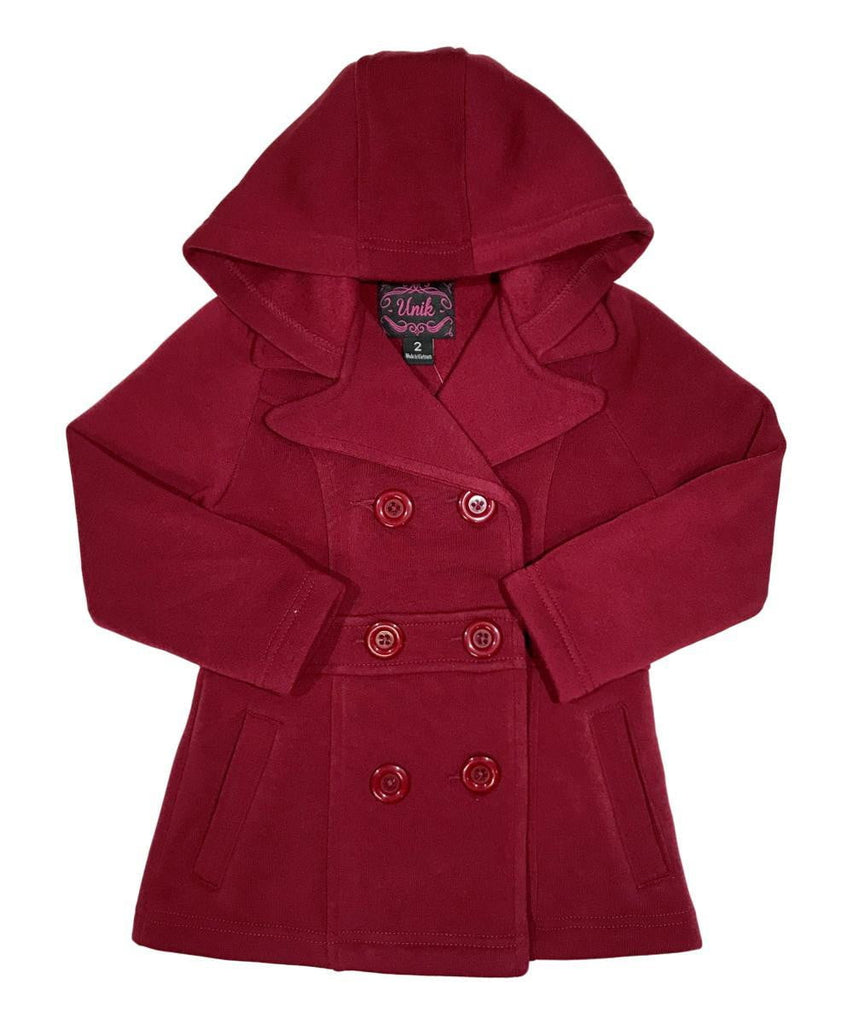 unikinc - Girl Fleece Coat With Hood - Unikinc