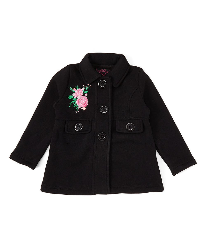 unikinc - Girl Floral Embroidered Jacket - Unik Inc