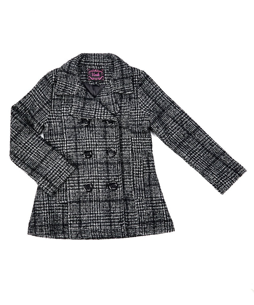 unikinc - Girl Faux Wool Coat Jacket - Unikinc
