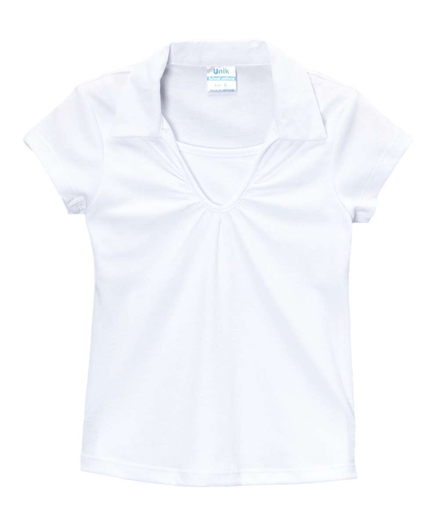 unikinc - Girl's Uniform V-Neck Collar Shirt - Unikinc