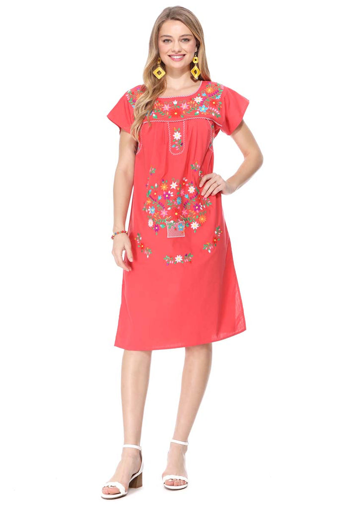 unik Embroidered Traditional Mexican Dress Size S-3X