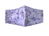 Face Mask, 100% Cotton, 2 layers, Purple Clover, Washable, Reusable Mask, Adult Size